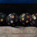 """Chorus"" 40x120"" Oil on panel. 2013 Courtesy of the artist"